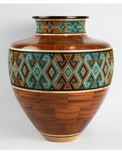 SOLD Marilyn Endres and Eucled Moore - Segmented Amphora Shap with Tribal Pattern