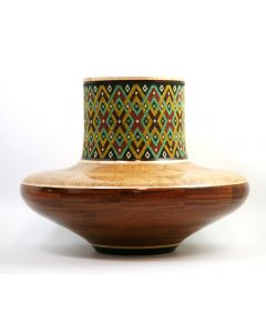 SOLD Marilyn Endres and Eucled Moore - Tall Neck Segmented Wood Turning