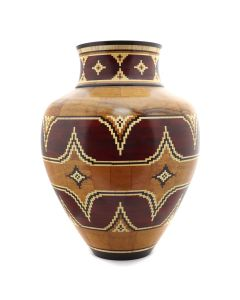 Marilyn Endres and Eucled Moore - Large Segmented Wood Turned Vessel with Complex Pattern (M90572-1220-009)