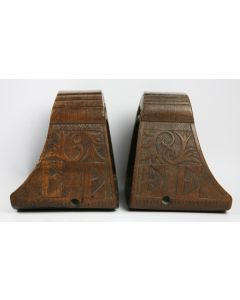 Pair of Carved Wooden Stirrups - Mexico