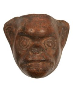 "Monkey Mask Mold, Mexico or Guatemala, c. 1960s, 6"" x 6.75"" x 3.25"""