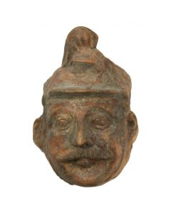 "Soldier Mask Mold - Mexico, c. 1960s, 7.75"" x 6.5"" x 4"""