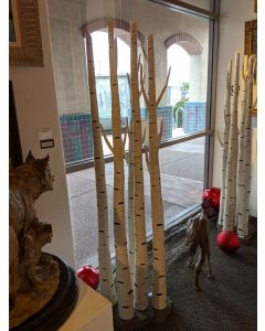 Judy Gans - Ceramic Aspen Trees - Group of 5 on Base (M90761A-1219-003)