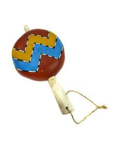 "Hopi Rattle c. 1960-70s, 10"" x 5"" x 3"""