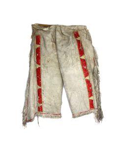 """Plains Quilled Leggings c. 1890, 35"""" x 33"""""""