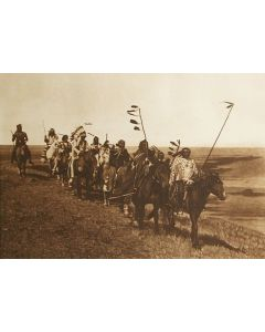 SOLD Edward S. Curtis (1868-1952) - On The War Path - Atsina