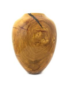 Greg Campbell - Olive and Red Acrylic Turned Wood Vessel (M91295-1219-001)