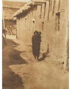 Edward S. Curtis (1868-1952) - Zuni Street Scene