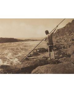 Edward S. Curtis (1868-1952) - Spearing Salmon - Wishham