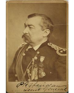 H. Rocher of Chicago Cabinet Card of P.H. Sheridan Lieut General