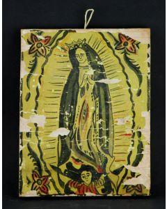 """J. A. Sanchez - Nuestra Senora de Guadalupe Retablo, 1938, 10.5"""" x 8.25"""" (M91924-029-105)"""