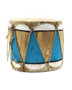 """Taos Drum c. 1940-50s, 5"""" x 5"""" (M91924-0620-001)"""