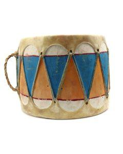 """Taos Drum c. 1940-50s, 7.25"""" x 9"""" (M91924-0620-002)"""