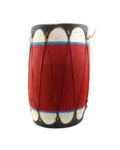 """Taos Drum c. 1940-50s, 19"""" x 11.5"""" (M91924-0620-003)"""