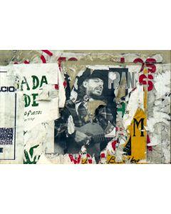 Ned Sublette - Palimpsest of Poster for Concert by Trovador Frank Delgado, Calle Linea, Vedado