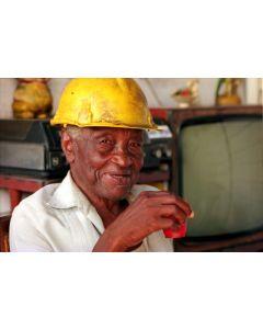 Ned Sublette - Hard Hat Worker on Coffee Break, Jovellanos