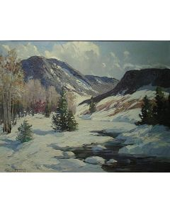 SOLD Fremont Ellis (1897-1985) - Northern New Mexico Winter
