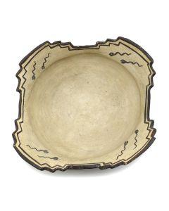 """Zuni Ceremonial Bowl with Tadpole Design c. 1885-90, 5"""" x 13"""" (P1410)"""