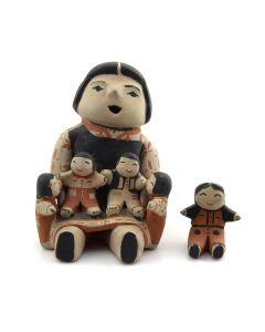 "Ada Suina - Cochiti Storyteller Figurine c. 1970-80s, 5.25"" x 4"" x 4.5"""