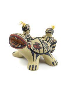 """Margaret Gutierrez - Santa Clara Polychrome Turtle Figurine c. 1990s, 2.5"""" x 3"""" x 2.5"""""""