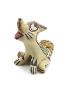 """Stephanie Naranjo - Santa Clara Polychrome Coyote Figurine c. 1980s, 2"""" x 2"""" x 2"""""""