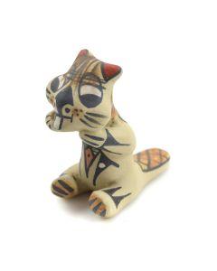 "Stephanie Naranjo - Santa Clara Polychrome Beaver Figurine c. 1980s, 2"" x 2.5"" x 1.25"""