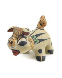 "Stephanie Naranjo - Santa Clara Polychrome Pig Figurine c. 1980s, 1.5"" x 1.5"" x 2.5"""