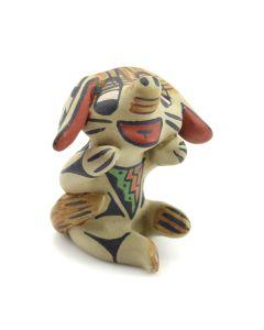 """Stephanie Naranjo - Santa Clara Polychrome Dog Figurine c. 1980s, 2"""" x 2"""" x 2"""""""