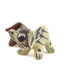 """Stephanie Naranjo - Santa Clara Polychrome Dog Figurine c. 1980s, 1.5"""" x 1.5"""" x 3"""""""