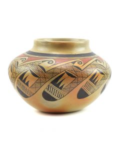 "Nellie Nampeyo - Hopi Jar with Migration Pattern c. 1940s, 5.5"" x 6"""