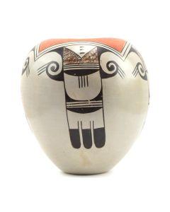 "Helen Naha (1922-1993) - Feather Woman - Hopi Polychrome Jar c. 1960-70s, 5.5"" x 5"""