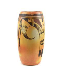"""Hopi Polychrome Vase c. 1940s, 11"""" x 5.5"""""""