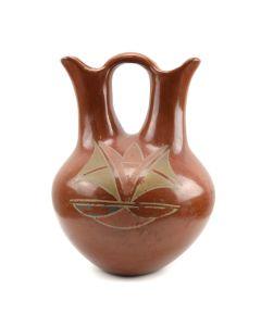 """San Juan Redware Wedding Vase c. 1940s, 10"""" x 7.5"""""""