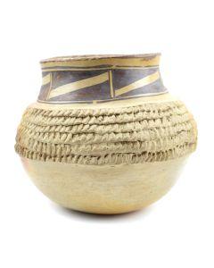 """Nampeyo Family - Hopi Corrugated Jar c. 1910s, 6"""" x 7"""""""