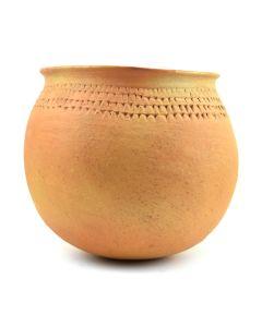 """Priscilla Nampeyo - Hopi Jar with Corrugated Design c. 1950-60s, 7.25"""" x 8"""""""
