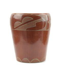 "Rose Gonzales - San Juan Vase c. 1940s, 5.75"" x 4.75"""