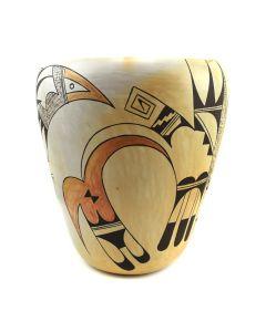 "Fawn Navasie - Hopi Polychrome Vase c. 1960s, 10"" x 8.5"""