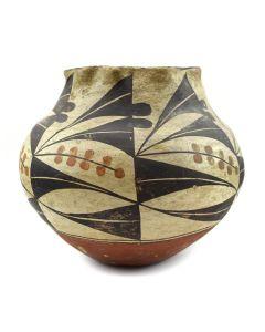 "Acoma Polychrome Jar c. 1890s, 6.5"" x 6.5"""