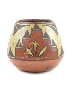 """Lot 308 - Zia Polychrome Jar c. 1940s, 3"""" x 3.25"""" (P2880)"""