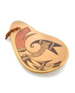 "Garnet Pavatea - Hopi Polychrome Ladle c. 1960s, 7.5"" x 5"""