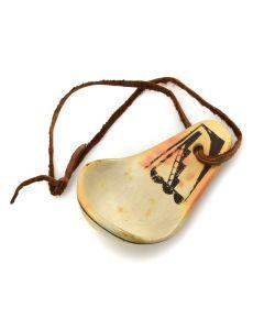 "Hopi Polychrome Ladle c. 1940s, 3.5"" x 2.5"" x 2.5"""