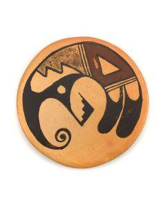 """Ayu Aya - Hopi Miniature Polychrome Plaque c. 1980s, 2.375"""" diameter"""