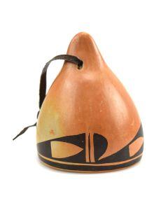"""Hopi Polychrome Pottery Bell c. 1950s, 3.25"""" x 2.5"""""""
