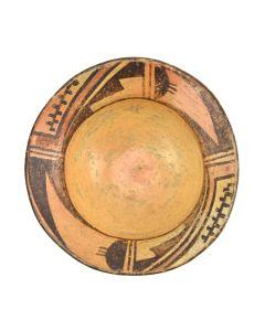 """Hopi Polychrome Bowl c. 1920-30s, 1.25"""" x 4.5"""""""