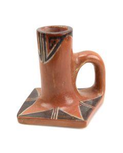 "Hopi Candlestick c. 1930s, 4"" x 4"" x 4.5"""