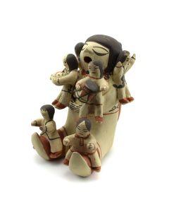 "Dorothy Trujillo - Cochiti Storyteller Figurine c. 1980s, 6.5"" x 4.75"" x 6"""