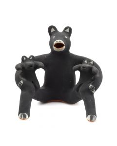 "Martha Arquero - Cochiti Mother Bear with Cubs c. 1980s, 4.5"" x 4.5"" x 3.5"""