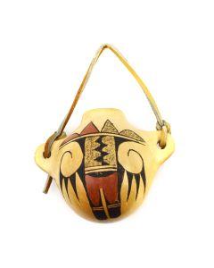 "Delores Namoki - Hopi Polychrome Ornament c. 1970s, 3.25"" x 4.25"" x 2.5"""