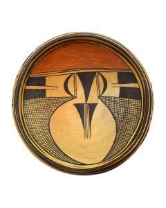 "Lot 275 - Nampeyo Family - Hopi Polychrome Bowl c. 1920s, 3.5"" x 10"" (P3003)"