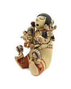"Dorothy Loretto Trujillo - Cochiti/Jemez Storyteller Figurine c. 1970s, 8.5"" x 5"" x 6"""
